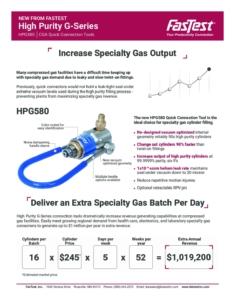 fastest HPGG580 data sheet cover