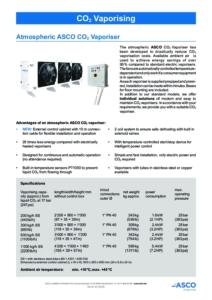 ASCO Atmospheric CO2 Vaporiser cover